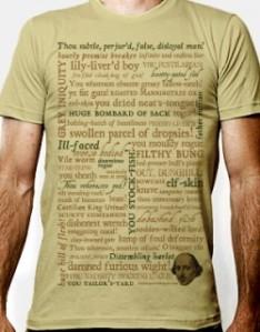 ShakespeareShoppe's Shakespeare Insults T-shirt