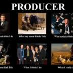 What does a television or film producer do?